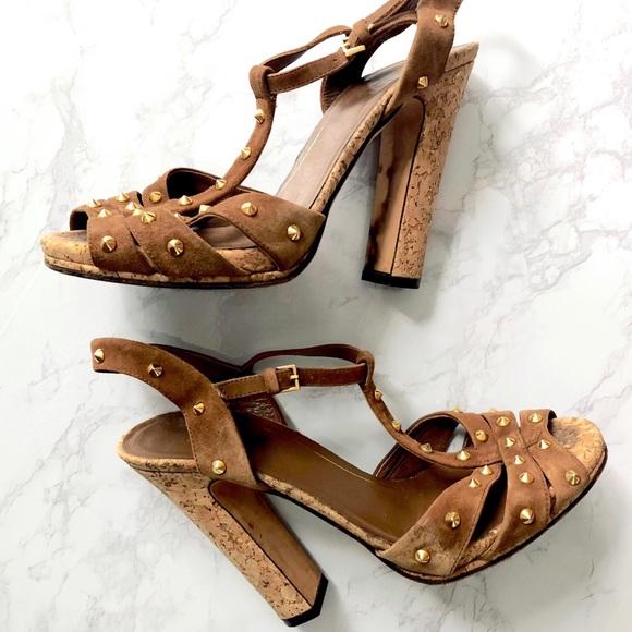 de1b7a1119 Gucci Shoes   Jacquelyn Suede Leather Platform Sandal 75   Poshmark